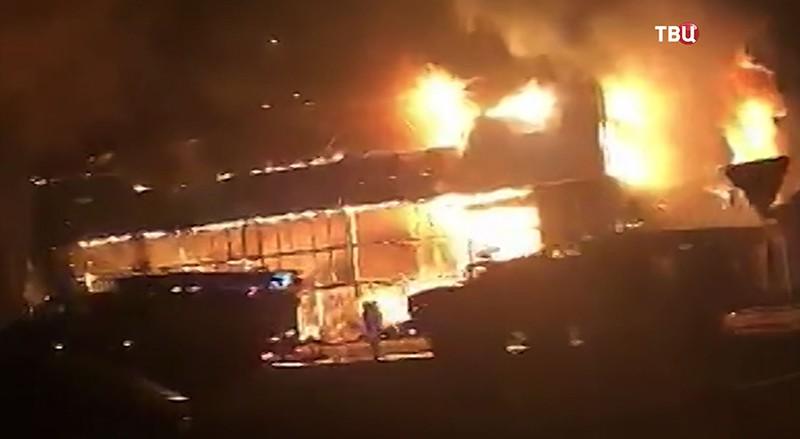 Пожар в Ингушетии