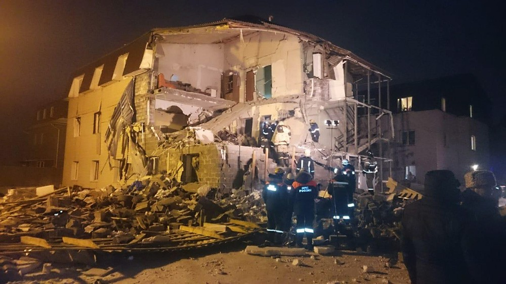 На месте взрыва газа в Красноярске