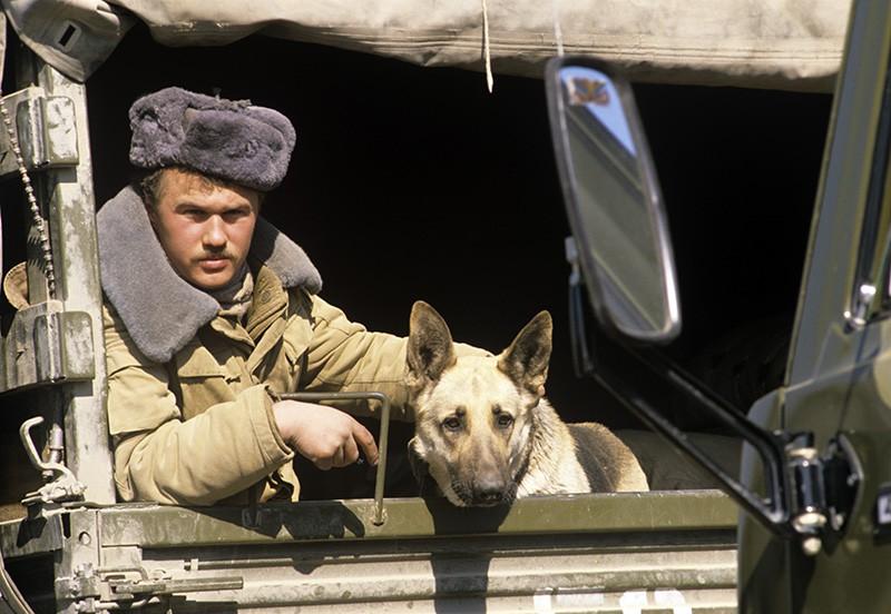 Солдат Советской армии. Афганистан
