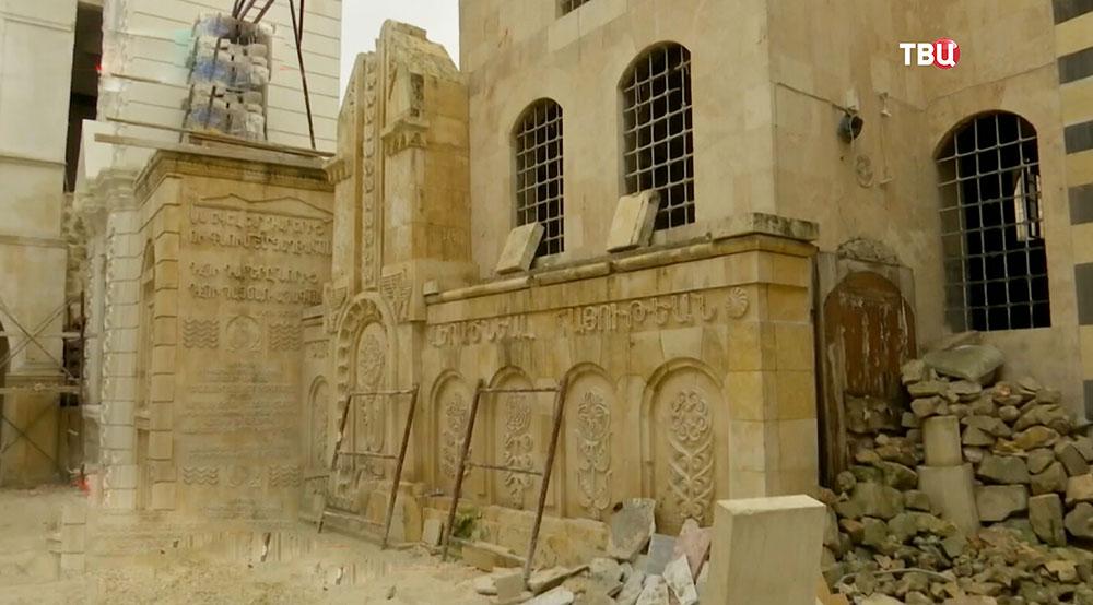 Ремонт древних храмов в Сирии