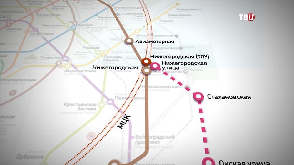 Строительство станции метро Нижегородская