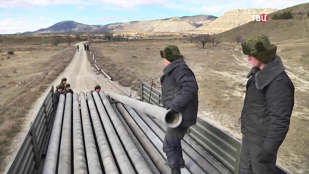 Прокладка трубопровода в Крыму