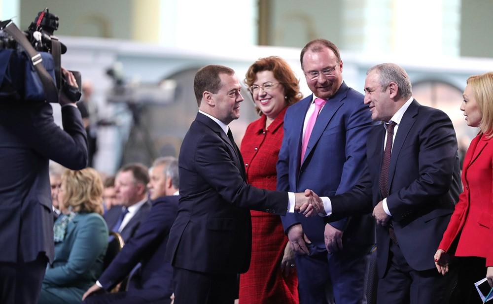 Дмитрий Медведев во время ежегодного послания Федеральному собранию