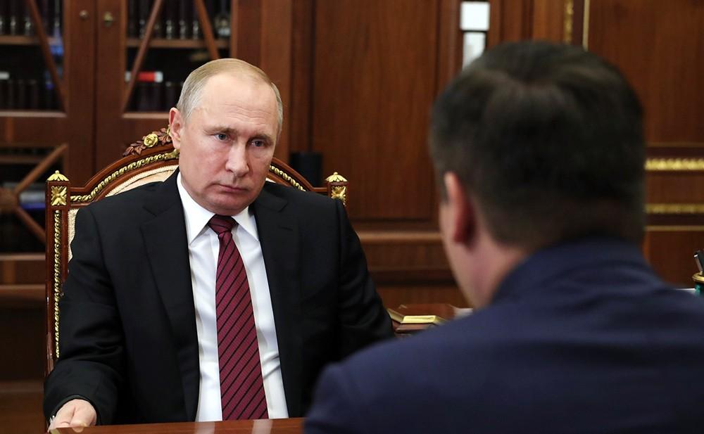 Владимир Путин и глава Новгородской области Андрей Никитин
