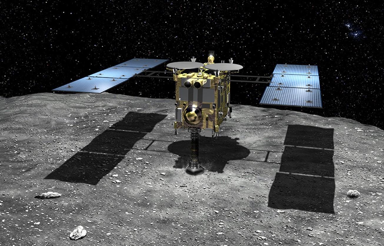 """Японский космический зонд """"Хаябуса-2"""" на астероиде Рюгу"""