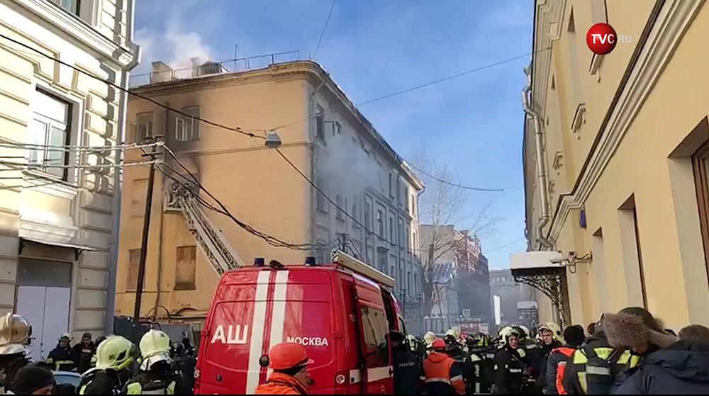 Пожар в здании консерватории Чайковского