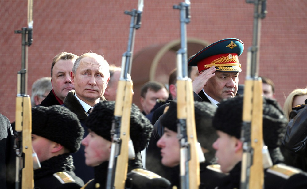 Владимр Путин и Сергей Шойгу