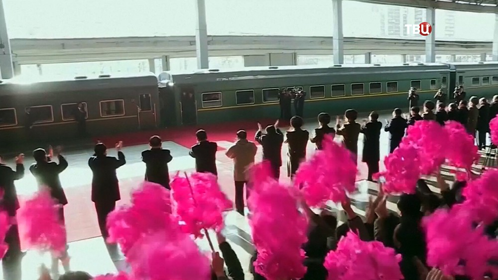 Бронированный поезд Ким Чен Ына