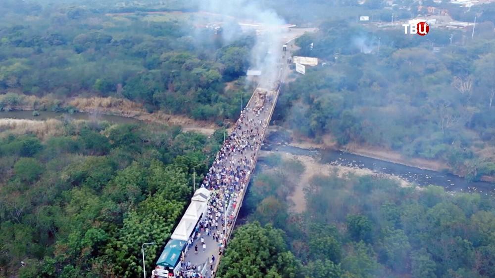 Беспорядки на границе с Колумбией