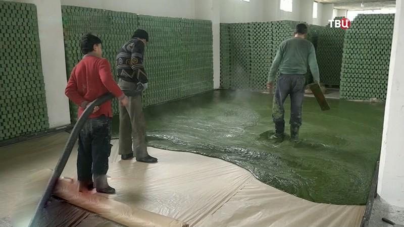 Производство арабского мыла в Сирии