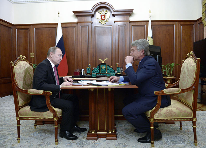 Владимир Путин и Леонид Михельсон