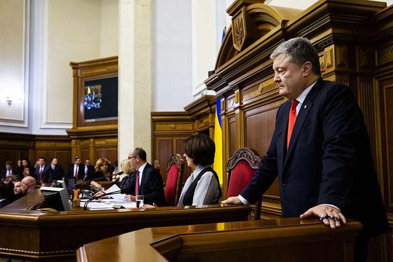 Петр Порошенко во время заседания Верховной Рады Украины