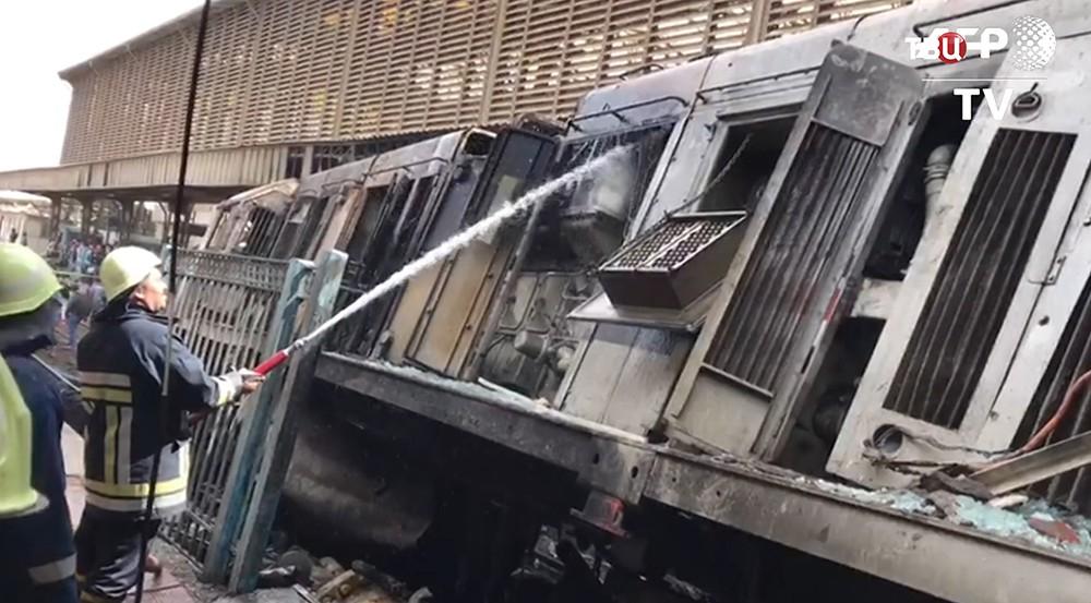 Взрыв поезда в Каире
