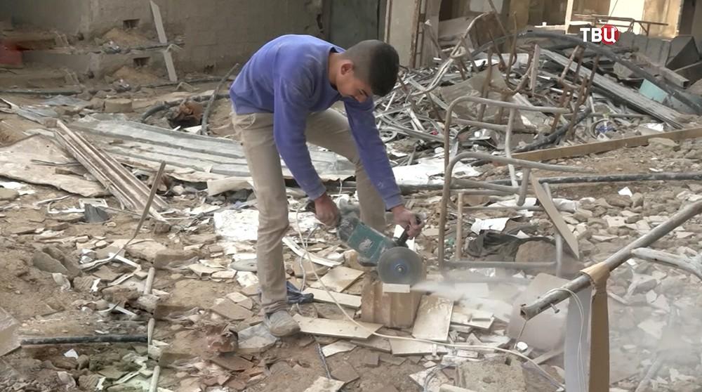 Последствия боевых действий в Сирии