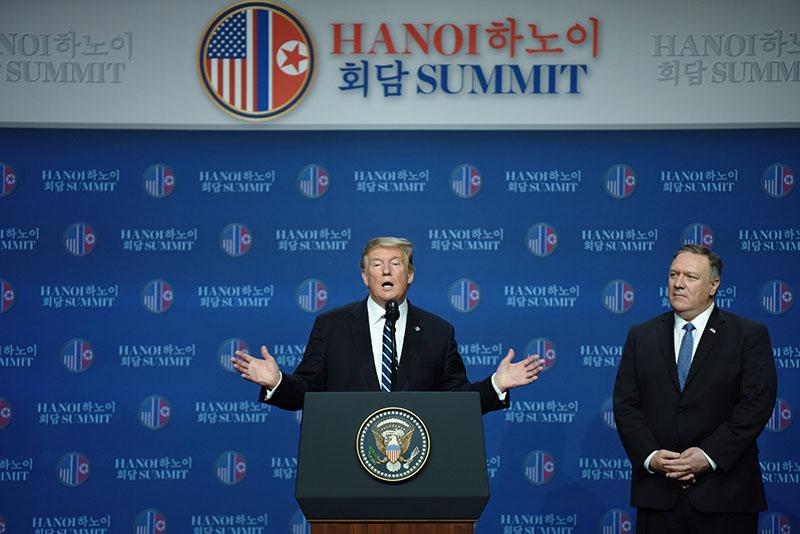 Президент США Дональд Трамп во время пресс-конференции