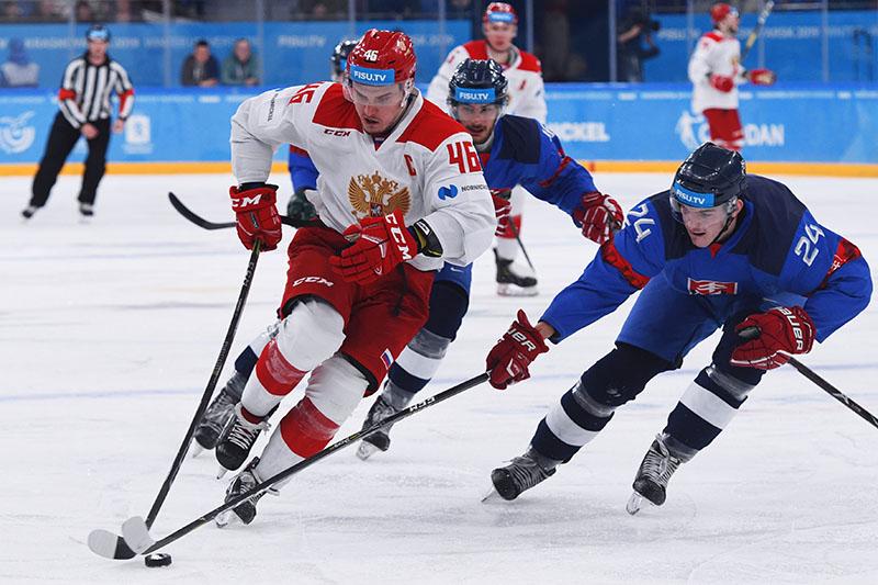 Универсиада. Хоккей. Матч Словакия - Россия