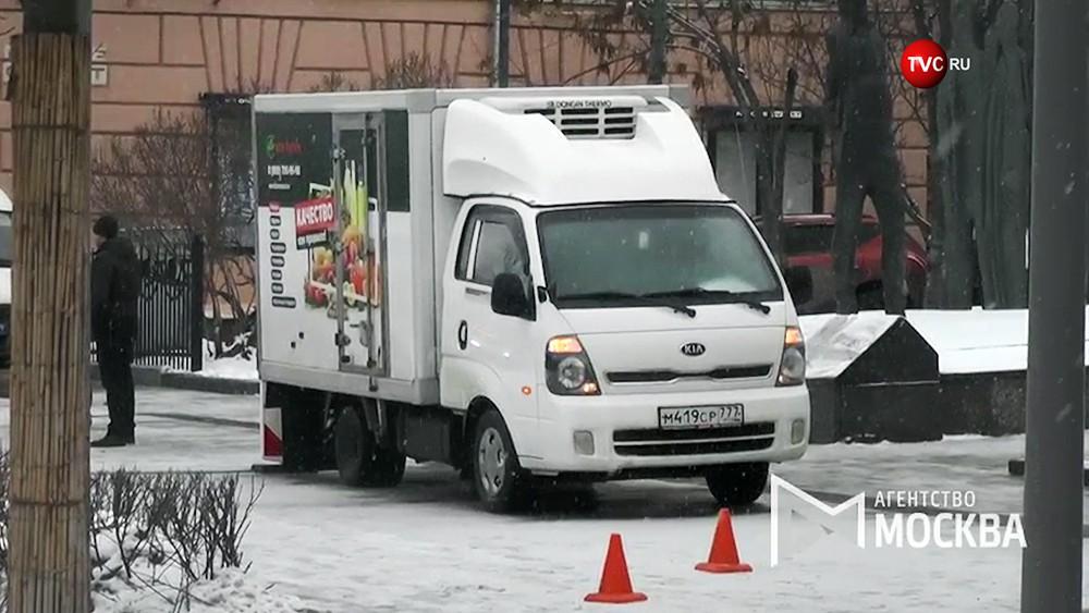 Последствия наезда грузовика на пешеходов