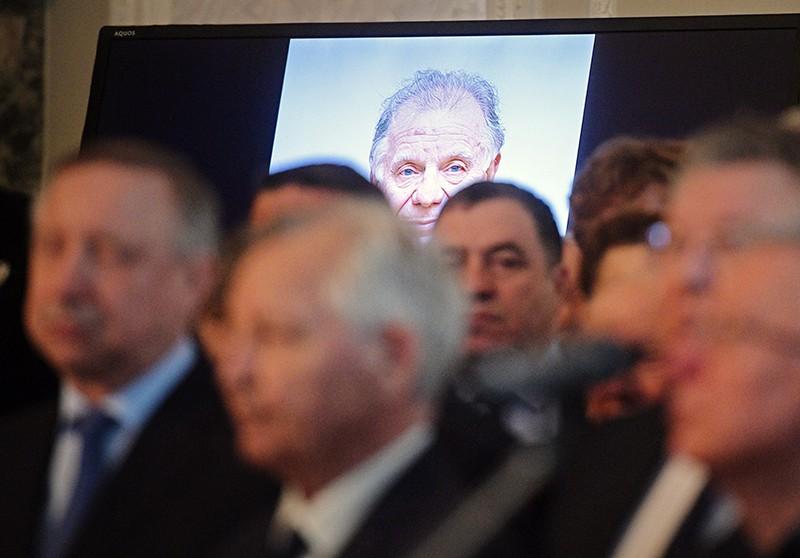 Церемония прощания с академиком Жоресом Алферовым в научном центре РАН в Санкт-Петербурге