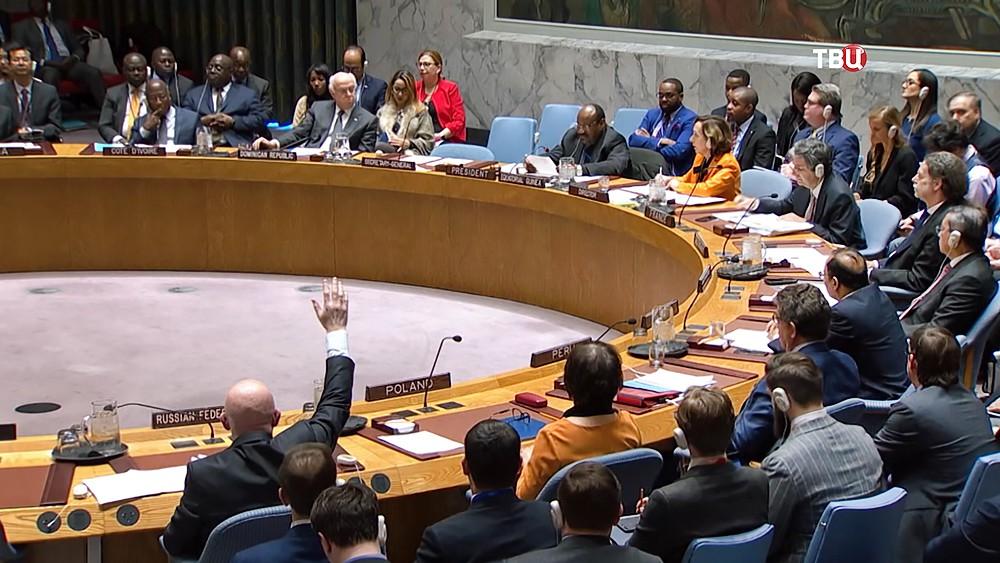 Василий Небензя на заседании ООН