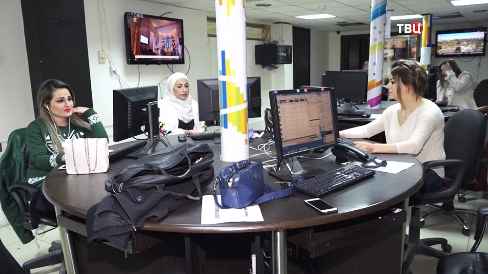 Студия сирийского телевидения