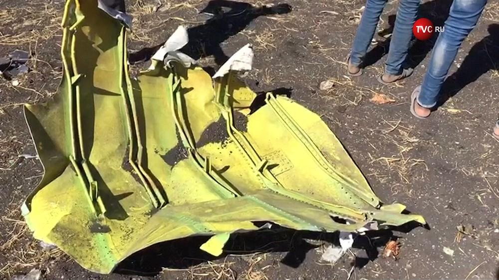 Место крушения самолета Boeing 737 авиакомпании Ethiopian Airlines