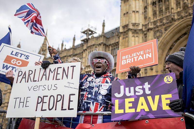 Протесты против Brexit в Великобритании