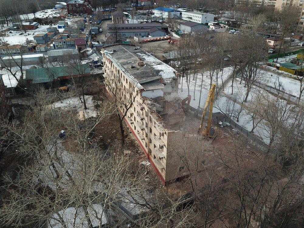 Снос пятиэтажки расселенной по программе реновации