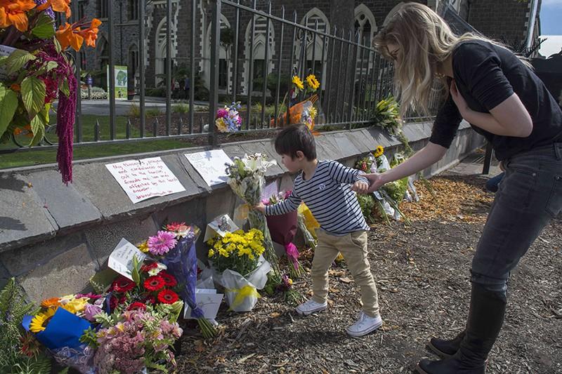 На месте теракта в Новой Зеландии