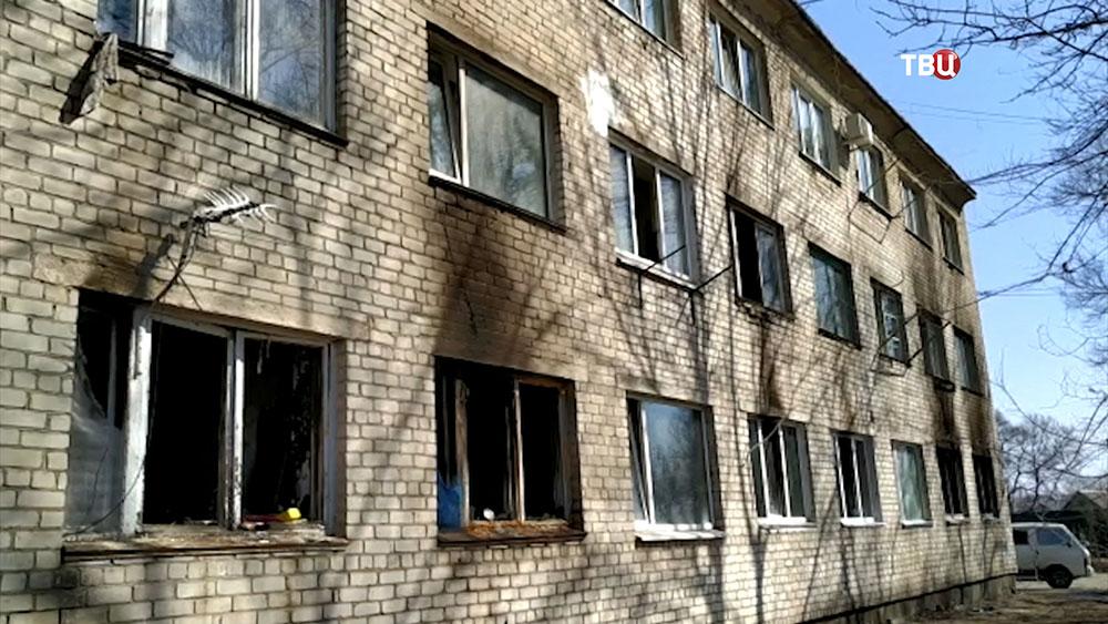 Пожар в многоквартирном жилом доме в Приморье