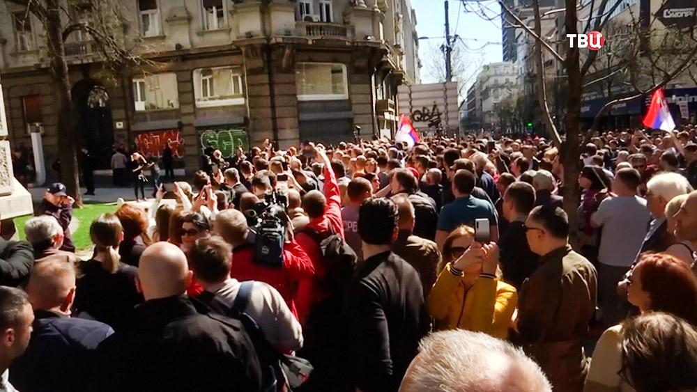 Митинг в Сербии