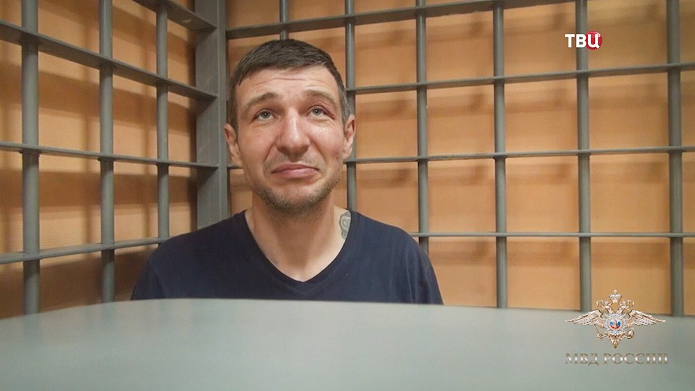 Задержанный грабитель