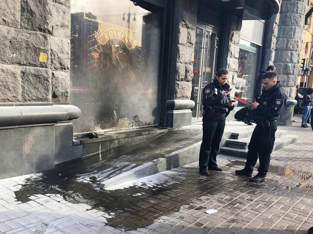 Пожар в кондитерском магазине Порошенко ROSHEN