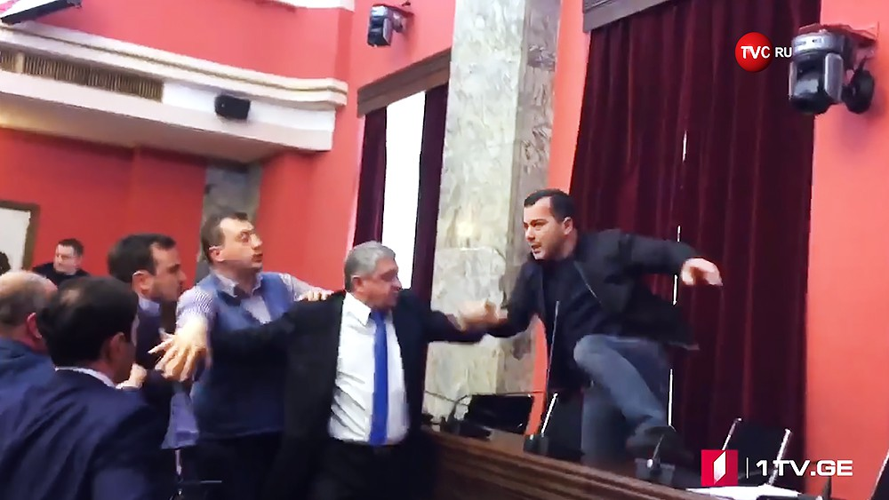 Драка в парламенте Грузии