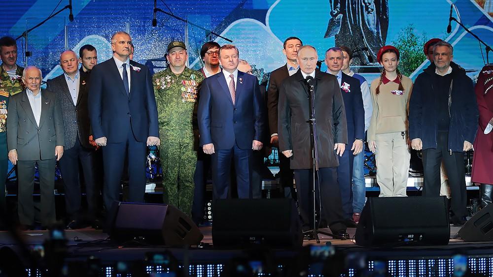 Владимир Путин на концерте по случаю пятилетия воссоединения Крыма с Россией