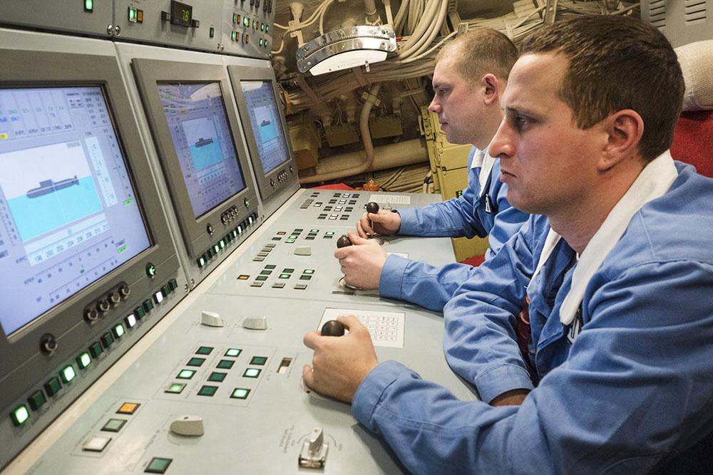 Члены экипажа подлодки