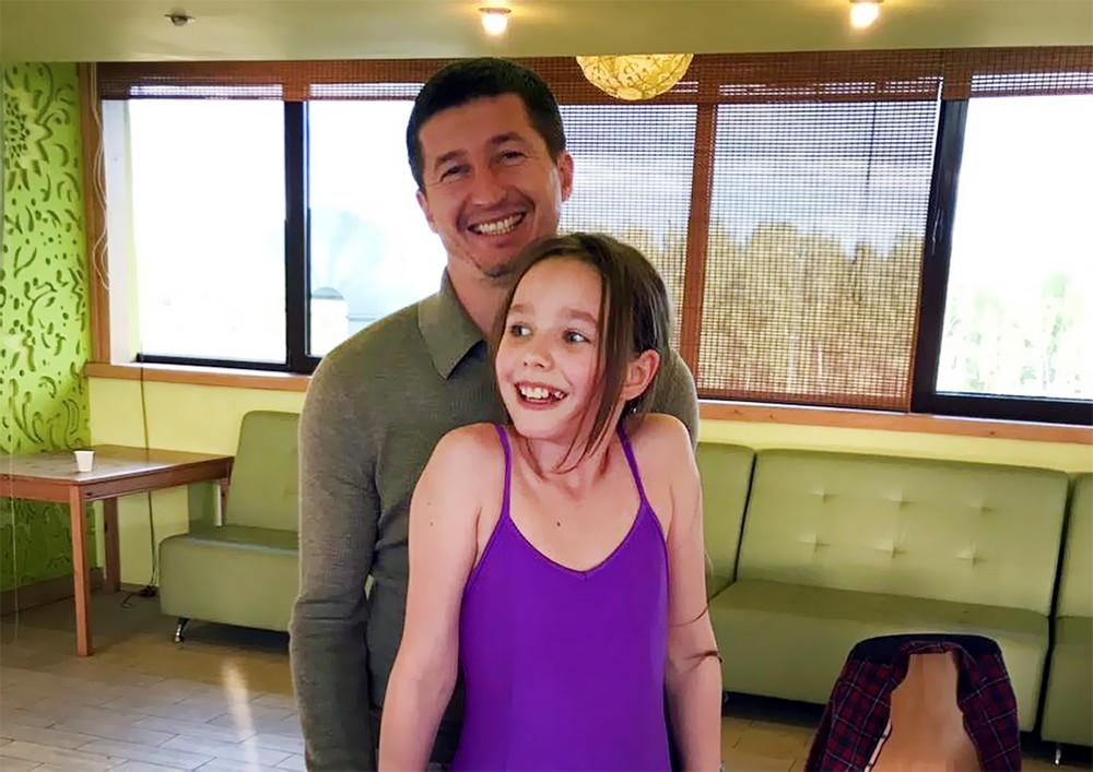 Дочь Юлии Началовой Вера Алдонина с отцом Евгением Алдониным