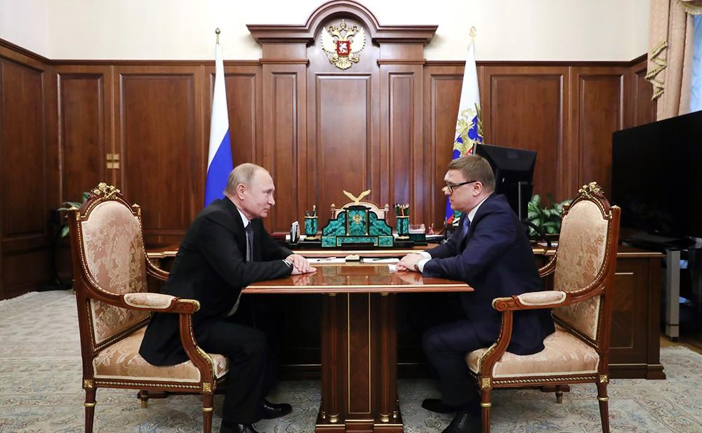 Владимир Путин и Алексей Текслер