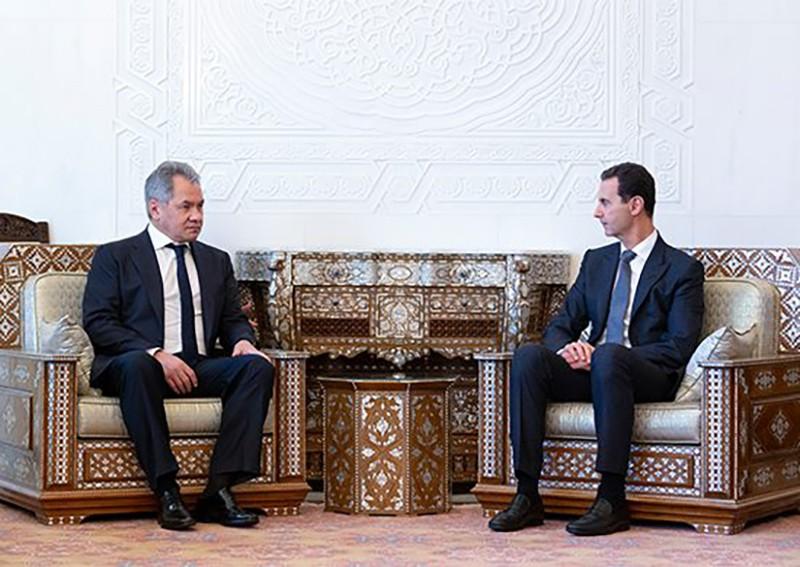 Сергей Шойгу и Башар Асад