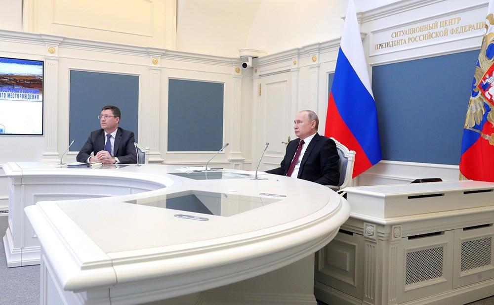 Владимир Путин в режиме телемоста дал команду к началу освоения Харасавэйского газового месторождения