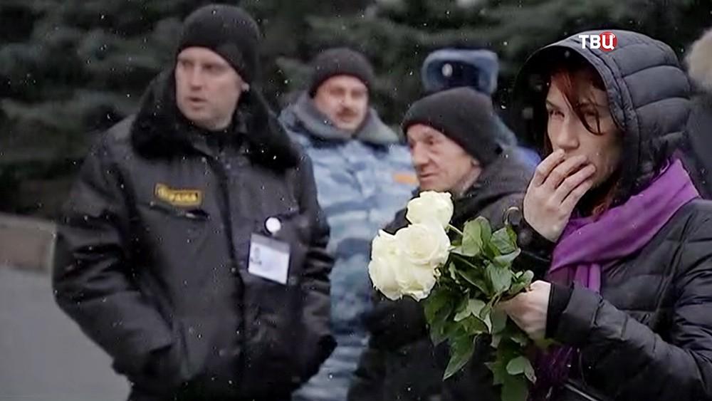 Церемония прощания с Юлией Началовой