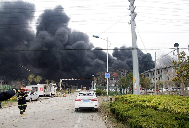 Последствия взрыва на химзаводе в Китае