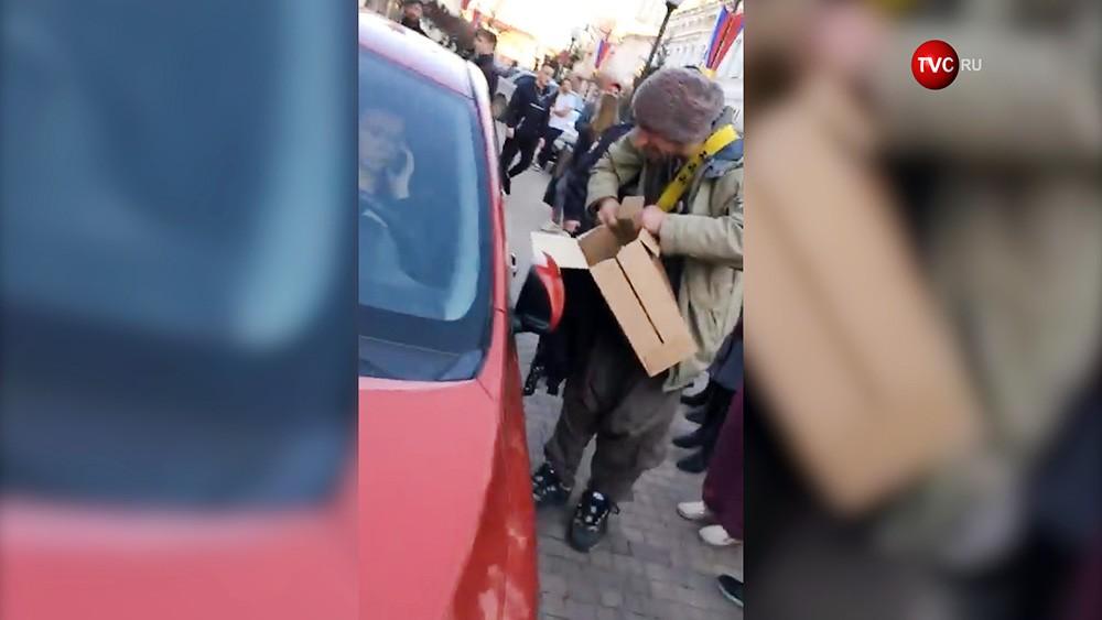Женщина-водитель задавило кота