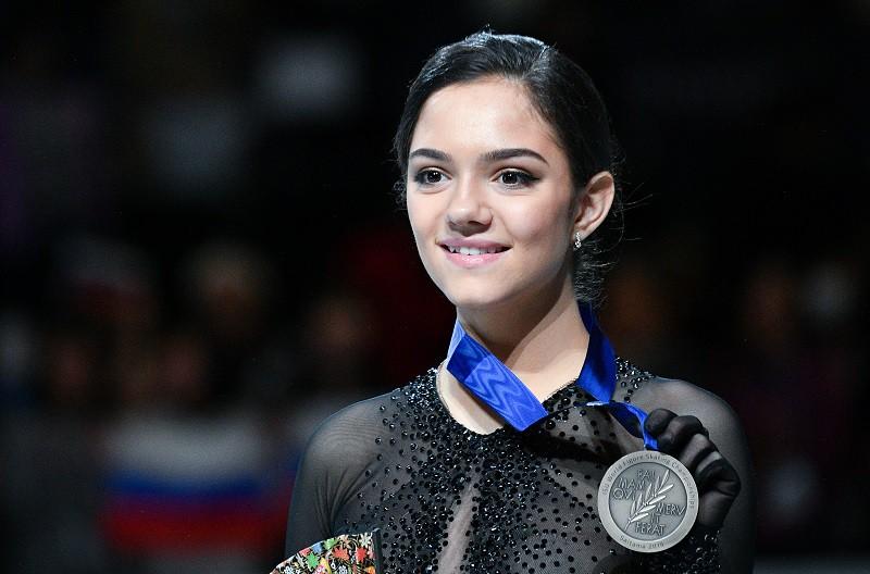 Бронзовый призер чемпионата мира по фигурному катанию Евгения Медведева