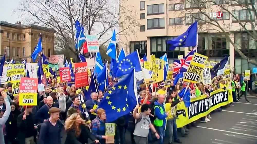 Митинг противников Brexit