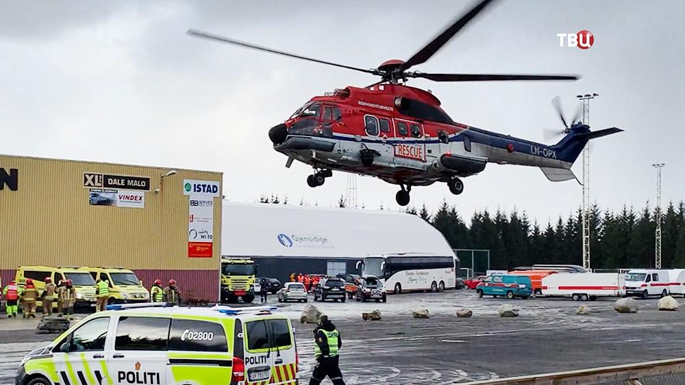 Спасательный вертолет Норвегии