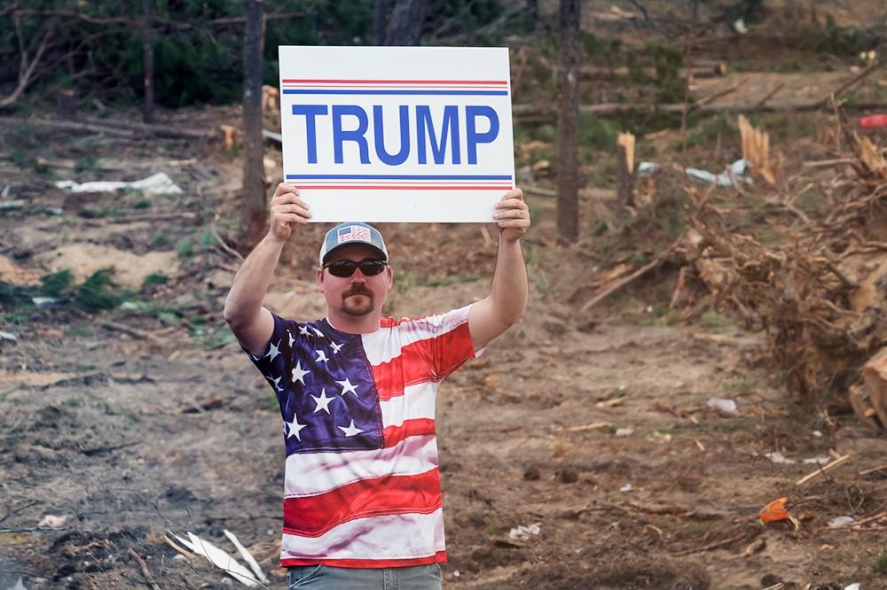 Сторонники политики Дональда Трампа