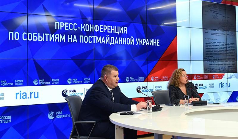 Подполковник СБУ Василий Прозоров на пресс-конференции
