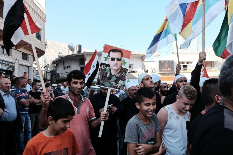 Акция сторонников сирийских властей на Голанских высотах