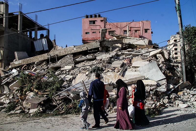 Последствия удара израильской армии по сектору Газа