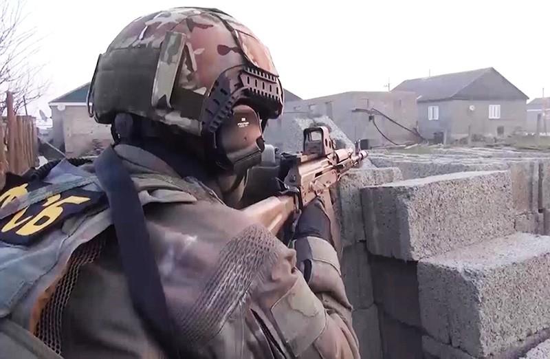 Сотрудник ФСБ России во время задержания